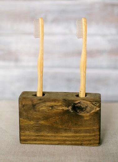 Rustik Diş Fırçalık-Oldwooddesign
